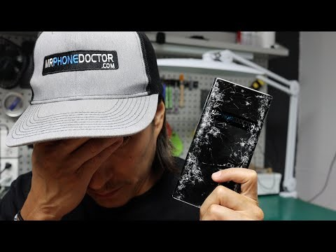 Samsung Galaxy Note 10 Cracked Screen Repair Without Taking Phone Apart
